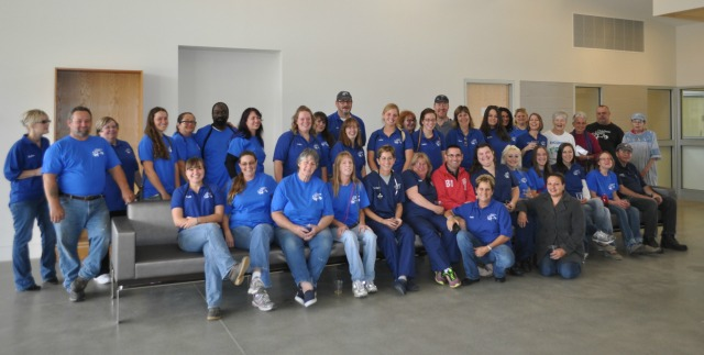 DCSPCA and AFF staff in the new building